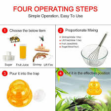 6pcs fatal wasp trap hornet fly traps