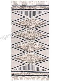 cotton hand woven printed area rugs
