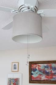 add a drum shade to your ceiling fan in