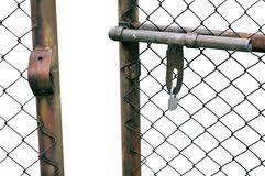 Chain Link Fence Gate Stock Photo 53985784 Megapixl