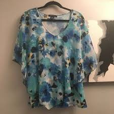 Adele & May Tops   Adele May Poly Floaty Top Large Mint Condition   Poshmark