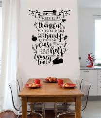Kitchen Rules Be Thankful Wash Hands Vinyl Decal Wall Stickers Letters Words