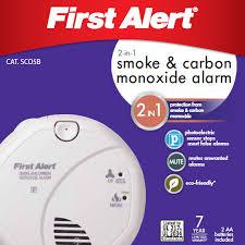 battery smoke co combo alarm