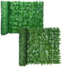 Amazon Com Enfudid Artificial Leaf Fence Privacy Screen Outdoor Garden Artificial Faux Ivy Hedge Leaf Privacy Fence Wall Screen Decorative Fence Screen Green Garden Outdoor