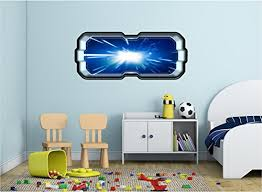 48 Spacescape Instant Star Ship Space Ship Window View Light Speed Hyperspace 1 Wall Sticker Decal Graphic Art Mural Kids Game Man Cave Room Decor New On Star Wars