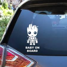 Langru Tall Baby Groot Board Die Cut Vinyl Decal Sticker Funny Car Stickers Creative Decor Car Accessories Jdm Car Stickers Aliexpress