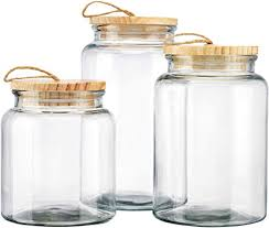 elegant home glass canister sets round