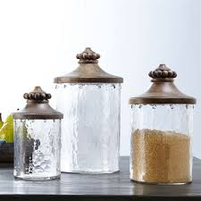 beaded glass kitchen canister set