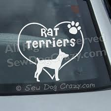 Love Rat Terriers Decal Sew Dog Crazy