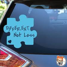 Amazon Com Different Not Less Autism Awareness Puzzle Piece Vinyl Die Cut Decal Sticker For Car Laptop Etc Handmade