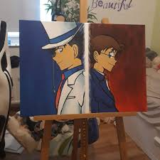 Kaito Kid vs Detective Conan | Detective Conan & Magic Kaito. Amino