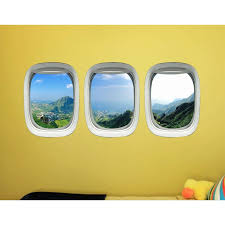 East Urban Home Tropical Airplane Window Clings Nature Vinyl Wall Decal Wayfair