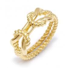 sorority rope ring greek jewelry