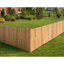 Cedar Wood Fence Panels Wood Fencing The Home Depot