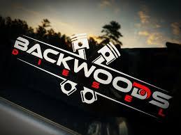 Backwoods Diesel Vinyl Die Cut Decal 8 X3