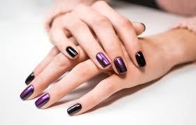 Photo Wallpaper Woman Nails Manicure Paznokcie Tytanowe Wzory