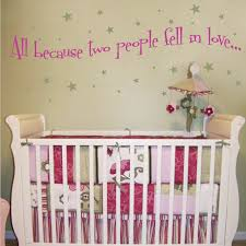 All Because Two People Fell In Love Nursery Wall Decals