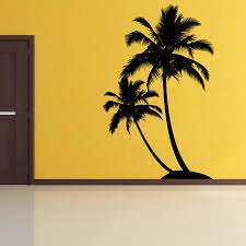 Dual Palm Tree Island Wall Decal On Luulla