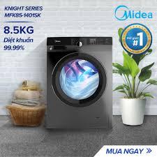 Máy Giặt Cửa Trước Midea MFK85-1401 8.5kg (Trắng/Xám Bạc) - Dòng ...