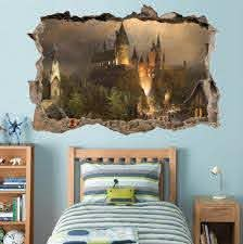 Hogwarts Harry Potter Smashed Wall Decal Removable Wall Sticker Art Mural H327 Harry Potter Room Decor Harry Potter Wall Harry Potter Wall Stickers