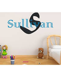 Great Sales On Boy S Custom Name And Initial Wall Decal Choose Your Own Name Initial And Letter Styles Multiple Sizes Vinyl Wall Stickers For Kids Wall Sticker Decor Custom Name Initial