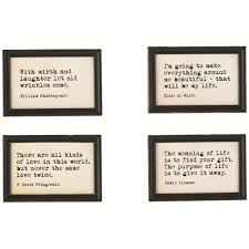 r studios in h x in w famous quotes framed wall art set of
