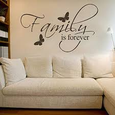 Amazon Com Family Is Forever Wall Sticker Wall Decal Wall Decor Wall Sayings Black Large Home Kitchen