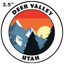 Deer Valley Utah Decorative Car Truck Decal Window Sticker Vinyl Die Cut Wildlife Travel Adventure Vacation Tourist Souvenir Walmart Com Walmart Com