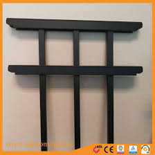 China Squashed Top Black Powder Coated Garden Fence For Residence China Security Fence Steel Fence