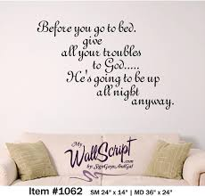 Headboard Wall Decal Bible Verse Wall Art Before You Go To Bed