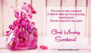 good morning sweetheart