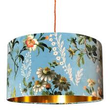 bespoke lamp shades with gold lining