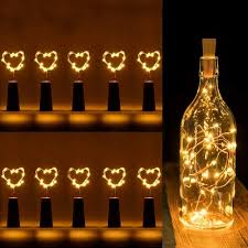 wine bottle cork string fairy lights