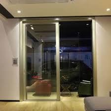 solid wood aluminium sliding door with