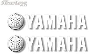 Amazon Com 2 Yamaha 9 White Graphic Vinyl Decals For Truck Sled Snowmobile Kodiak Grizzly 700 Trailer Stickers 2 2 X 9 White Automotive