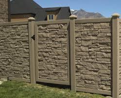 Simtek Fence Ecostone 6 X 4 Gate At Menards