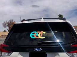 Edc Colorful Inspired Car Decal I Love Raves Decal Etsy