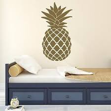 Gold Pineapple Glam Vinyl Wall Decal Wall Decal Sticker Wide 6 X 11 Height Ebay