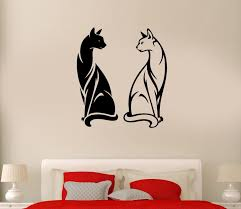 Fashion Animal Wall Decal Cats Pet Animal Black And White Couple Yin Yan Vinyl Stickers Free Shipping Stickers C Stickers Drawingsticker Ford Aliexpress