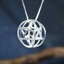 merkaba with prana sphere silver um
