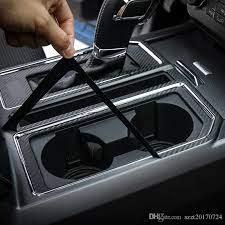 gear cup holder carbon fiber decoration