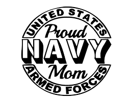 Proud Navy Mom Decal Sticker For Car Or Truck Or Lapt