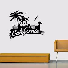 California Signs Palm Trees Seabirds Home Decoration Decal Vinyl Wall Stickers Vinyl Wall Stickers Wall Stickervinyl Wall Aliexpress