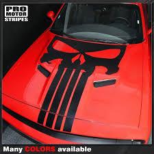 Dodge Challenger 2008 2019 Punisher Skull Hood Stripe Decal 1322294277 Pro Motor Stripes