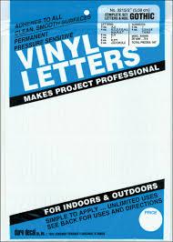 Permanent Adhesive Vinyl Letters Numbers 2 167 Pkg White Walmart Com Walmart Com