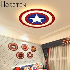 Creative Kids Room Lighting Acrylic Captain America Led Ceiling Lights For Baby Room Child Bedroom Dia62cm 45w Ceiling Lamps Ceiling Lights Room Lightkids Room Lights Aliexpress