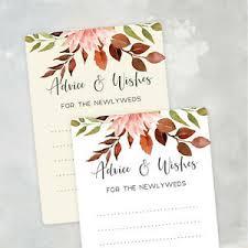 autumn wedding wish cards