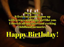 birthday wishes for sister birthday messages