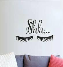 Vinyl Wall Sticker Lovely Shh Eyelash Baby Girls Room Door Decal Decor For Sale Online Ebay