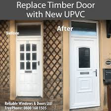 replace timber door with new upvc